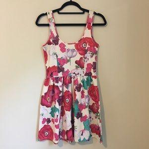 Zara Floral Mini Dress S